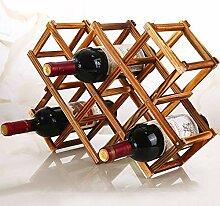 Cxmm Countertop Weinregal für 10 Flaschen aus