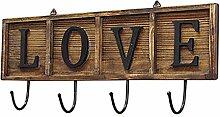 CXMM Garderobenhaken aus antikem Holz, Vintage,