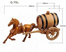 Cxmm Pferdewagen Weinfass Weinregal Mahagoni