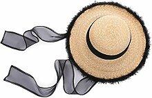 Cxmm Sonnenschutz UV-Schutz Natürlicher Strohhut
