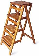 CXY-JOEL Klappbare Leiter, 4 Stufen, Barhocker,