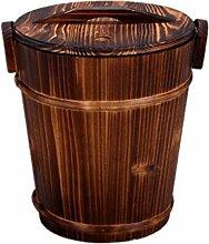 CXZS Tee Eimer Bambus Kleine Tee Barrel Abwasser