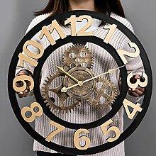 CXZS Wanduhr Amerikanischen Retro Uhr Industrial
