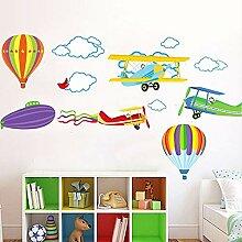 Cyalla Cartoon Flugzeug Und Heißluftballons