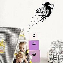 Cyalla Neue Flower Fairy Aufkleber An Der Wand