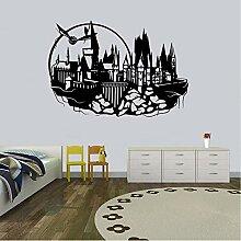 Cyalla Schloss Vinyl Wandtattoo Wand Kunst