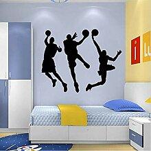 Cyalla Sport Wandaufkleber Basketball Player