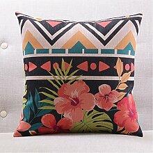 CYALZ Blumenmuster Couch Kissen Büro Nap Hold Kissen Auto Kissen Nachttisch Sofa Upscale Kissen Schützen Sie die Taille Kissen Back Pad (Dieses Produkt nur verkaufen Kissen) 60 * 60cm