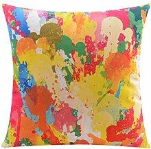 CYALZ Bunte abstrakte Muster Couch Kissen Office Nap Hold Kissen Auto Kissen Nachttisch Sofa Upscale Kissen Schützen Sie die Taille Kissen Back Pad (Dieses Produkt nur verkaufen Kissen) 45 * 45cm