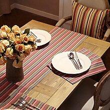 CYALZ Farbstreifen Tuch Tischläufer Tischdecke Couchtisch Tuch Lang Tischdecke Modern Einfache Mode Upscale Wohnzimmer Küche Restaurant Hotel Heimtextilien (Dieses Produkt verkauft nur Tischläufer) 35 * 160cm