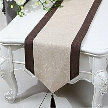 CYALZ Gelb Braun Streifen Tuch Tischläufer Modern Einfache Mode Upscale Wohnzimmer Küche Restaurant Hotel Heimtextilien (Dieses Produkt verkauft nur Tischläufer) 33 * 150cm