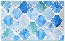 CYALZ Nylon Blau Grün Weiß Blumenmuster Mode Modern Einfach Stil Heimtextilien Türsprechanlage Badezimmer Küche Balkon Treppen Schlafzimmer Bedside 0.6cm Dicke Anti glatt Teppich Decke Matte Kissen 170 * 120cm