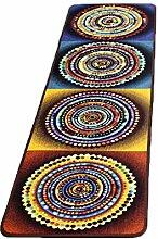 CYALZ Nylon Blau Rot Gelb Farbe Mehrfarbig Blumenmuster Mode Modern Einfach Stil Haus Textilien Türen Wohnzimmer Badezimmer Küche Balkon Treppen Schlafzimmer Bedside 0.6cm Dicke Anti rutschig Teppich Decke Matte Kissen 150 * 40cm