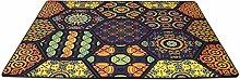 CYALZ Nylon Gelb Blau Farbe Mehrfarbig Blumenmuster Mode Modern Einfach Stil Haus Textilien Türen Wohnzimmer Badezimmer Küche Balkon Treppen Schlafzimmer Bedside 0.6cm Dicke Anti rutschig Teppich Decke Matte Kissen 150 * 70cm