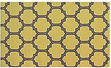 CYALZ Nylon Gelb Weiß Grau Modern Einfach Stil Haus Textilien Türen Wohnzimmer Badezimmer Küche Balkon Treppen Schlafzimmer Nachttisch 1cm Dicke Anti rutschig Teppich Decke Matte Kissen 150 * 80cm