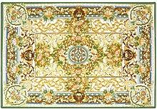 CYALZ Nylon Grün Braun Weiß Blume Muster Mode Modern Einfach Stil Haus Textilien Türen Wohnzimmer Badezimmer Küche Balkon Treppen Schlafzimmer Bedside 0.6cm Dicke Anti rutschig Teppich Decke Matte Kissen 170 * 120cm