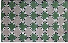 CYALZ Nylon Grün Schwarz Weiß Grau Modern Einfach Stil Haus Textilien Türen Wohnzimmer Badezimmer Küche Balkon Treppen Schlafzimmer Nachttisch 1cm Dicke Anti rutschig Teppich Decke Matte Kissen 150 * 80cm