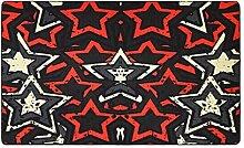 CYALZ Nylon Schwarz Rot Gelb Blumenmuster Mode Modern Einfach Stil Haus Textilien Türen Wohnzimmer Badezimmer Küche Balkon Treppen Schlafzimmer Bedside 0.6cm Dicke Anti rutschig Teppich Decke Matte Kissen 200 * 140cm