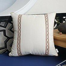 CYALZ Orange Farbstreifen Blumenmuster Couch Kissen Büro Nap Hold Kissen Auto Kissen Nachttisch Sofa Upscale Kissen Schützen Sie die Taille Kissen Back Pad (Dieses Produkt nur verkaufen Kissen) 45 * 45cm