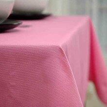 CYALZ Pink Unifarben Blumenmuster Stoff Tischdecke Rechteckig Modern Einfache Mode Upscale Tischdecke Gemütliches Restaurant Wohnzimmer Wohnzimmer Balkon Küche Hotel Couchtisch Teetisch Esstisch Tischgeschirr Heimtextilien (Dieses Produkt verkauft nur Tischtücher) 140 * 140cm