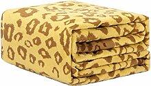 CYALZ Polyester Gelb Muster Einzel oder Doppel Einfach und Modern Heimtextilien Wolldecke 200 * 230cm
