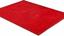 CYALZ Polyester Rot Einfarbig Moderne Einfache Stil Heimtextilien Türsprechanlage Badezimmer Küche Balkon Treppen Schlafzimmer Nachttisch 1.5cm Dicke Anti rutschig Teppich Decke Matte Kissen 200 * 140cm