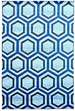 CYALZ Polypropylen Blaues Blumenmuster Modernes einfaches Haus Heimtextilien Türsprechanlage Badezimmer Küche Balkon Treppen Schlafzimmer Nachttisch 1cm Dicke Anti glatt Teppich Decke Matte Kissen 120 * 80cm