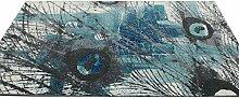 CYALZ Polypropylen Grau Blau Blumenmuster Moderne Einfache Stil Heimtextilien Türsprechanlage Badezimmer Küche Balkon Treppen Schlafzimmer Nachttisch 1.5cm Dicke Anti glatt Teppich Decke Matte Kissen 200 * 140cm