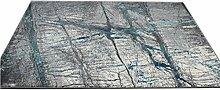 CYALZ Polypropylen Grau Blau Streifen Blumenmuster Modern Einfache Art Heimtextilien Türsprechanlage Badezimmer Küche Balkon Treppen Schlafzimmer Nachttisch 1.5cm Dicke Anti glatt Teppich Decke Matte Kissen 120 * 60cm