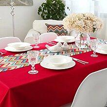 CYALZ Rot Blaue Farbe Streifen Tuch Tischläufer Tischdecke Couchtisch Tuch Lang Tischdecke Modern Einfache Mode Upscale Wohnzimmer Küche Restaurant Hotel Heimtextilien (Dieses Produkt verkauft nur Tischläufer) 35 * 180cm