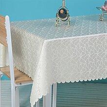 CYALZ Weißer Streifen Blumenmuster Tuch Tischdecke Weich Modern Einfach Mode Upscale Wohnzimmer Küche Restaurant Hotel Heimtextilien (Dieses Produkt verkauft nur Tischtücher) 140 * 200cm
