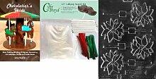 Cybrtrayd Schokoladenform mit Weihnachtsstern und
