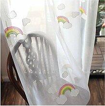CYHOME 1er Regenbogen Schal Vorhang Dekosachl