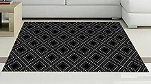 CYJZ® Quadratischer Teppich, europäischer Stil