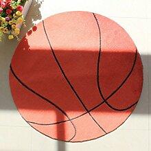 CYJZ® Teppich, Cartoon-Basketball-Muster Teppich