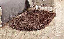 CYJZ® Teppich, Stretch Seide Oval Thicker Soften