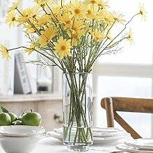 Cyl Home Vasen graues Glas Blumengesteck