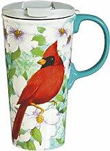 Cypress Home Cardinal Trio Ceramic Travel Coffee