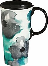 Cypress Home Ceramic Watercolor Floral Travel