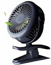 CYQ Clip auf Schreibtisch-Ventilator USB-Akku-Fan