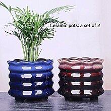 CYQ Keramik Blumentopf 2 Packungen Kreativ Einfach