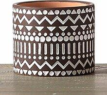 CYQ Keramik Blumentopf gerade geometrische Farbe