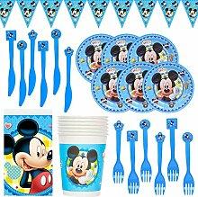 CYSJ 26PCS Gebutstag Party Set,Mickey