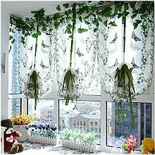 CYSTYLE 1er Tüll Schmetterling Raffrollos Fenster