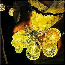 Cystyle 3M 20LED Zitrone Lichterkette Weihnachtliche mit Lichterkette Warmweiß - Transparente Stern für Party Deko, Garten Deko, Weihnachten, Hotel, Fest Deko,Hochzeit, Geburtstag (Stecker Modelle)