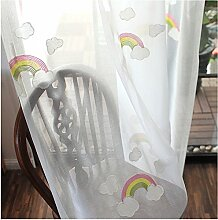 CYSTYLE Neue 1er Regenbogen Schal Vorhang