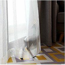 CYSTYLE Neue 1er Schal Baumwolle Leinen Vorhang