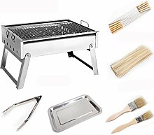 CZALBL Grill Grill, Portable Holzkohle Grill
