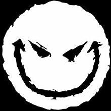 CZJMCT-DQ 12.9cm * 13cm EVIL SMILEY-Auto-Aufkleber