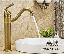 CZOOR Antike Küche Faucet Single Messing Griff Griff aus Keramik Spüle Mischbatterie